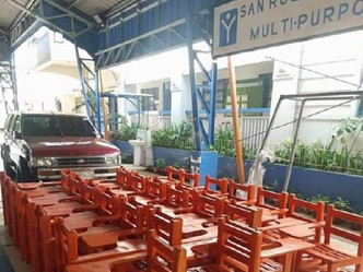Plastic Recycled Chairs donated to San Roque National High School, Antipolo City, Rizal