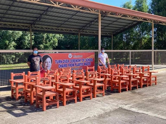 Distribution of 50 Plastic Chairs to San San Rafael Alternative Learning System - San Rafael Iloilo
