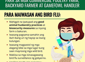 Advisory from the Department of Agriculture