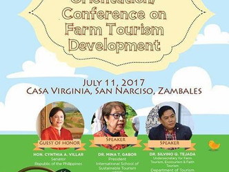 Central Luzon Orientation/Conference on Farm Tourism Development at Casa Virginia, San Narciso, Zamb
