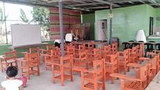 School chairs made from soft plastic for Maria Philiza Farm from Senator Cynthia Villar