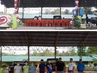 Donated plastic chairs to the Malitbog National High School in Bukidnon