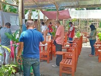Plastic school Chairs for Uswag Durog Rivergems Farm School at San Remigio Antique