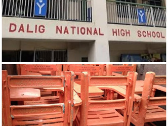 Senato Cynthia Villar send her donation of 50 chairs to Dalig National High School Antipolo City