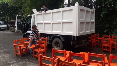 Turnover of Waste Plastic Recycling Chairs to Curioso Farm in Brgy. Ibabang San Roque,Liliw