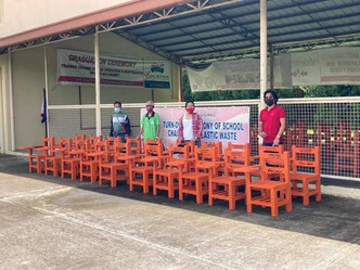 Senator Cynthia Villa donated Plastic Chairs from Recycled Waste Plastic