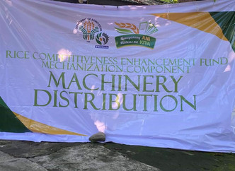 Six Farmers Associations/Cooperatives from La Union received their Rice Machineries in a simple cere
