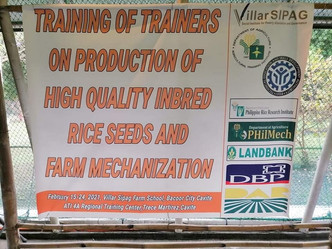 Opening Ceremonies on Training of Trainers on Quality Inbred Rice Seeds and Farm Mechanization
