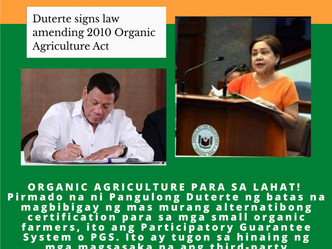 President Duterte signs Law Amending 2010 Organic Agriculture Act