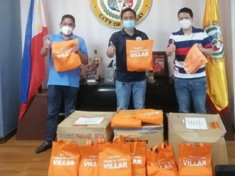 Blankets for flash flood victims for Talisay City LGU
