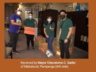 Delivered seeds, compost and face shield to Mayor Crisostomo Garbo of Mabalacat Pampanga