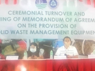 At the Ceremonial TurnOver of Composting Equipment and Shredders to the Local Government of Pampanga