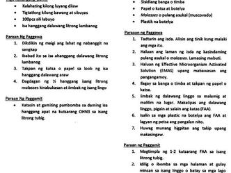 Mga Organikong Pataba at Panaboy Peste