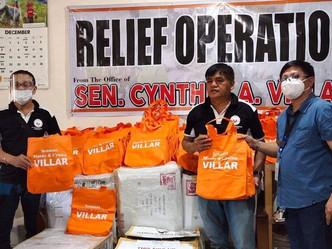 VILLAR SIPAG and the office of Senator Cynthia Villar turned over of blankets to Surigao Del Sur