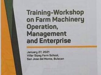 Opening Program of Training-Workshop on Farm Machinery Operation, Management and Enterprise