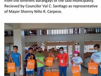 Blankets weaved from our social enterprise in Las Piñas from Senator CynthiaVillar