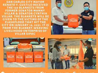 Turnover of Blanket to San Carlos City Negros Occidental Flashflood victims