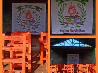 Donation of 50 school chairs to Alex Paulo Farm Brgy.East Dirita, San Antonio, Zambales