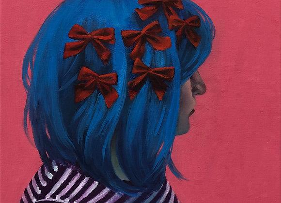 Artist: Lauren E. Peters, Title: self-portrait (lovelock)