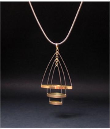 Artist: Joy Raskin, Title: Dancing Triangles - pendant