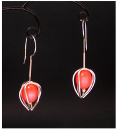 Artist: Joy Raskin, Title: Coral Buds - earrings