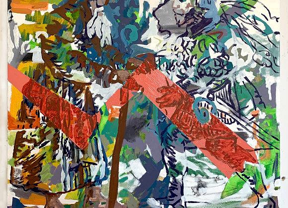 Artist: Kris Benedict, Title: Hermit with Orange Stripe
