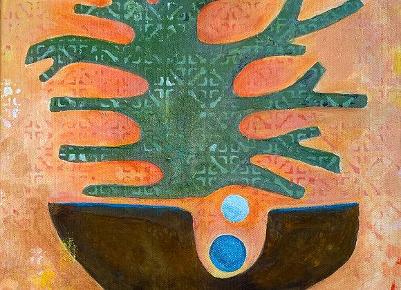 Artist: Karen Delaney, Title: Combined Forms, Optimism