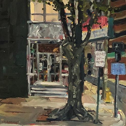 Artist: Sarah Baptist, Title: Corner Store
