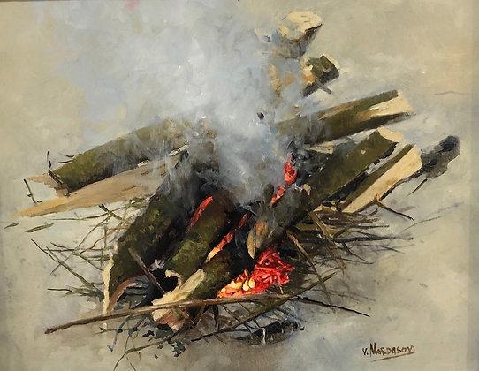 Artist: Victor Mordasov, Title: Bonfire