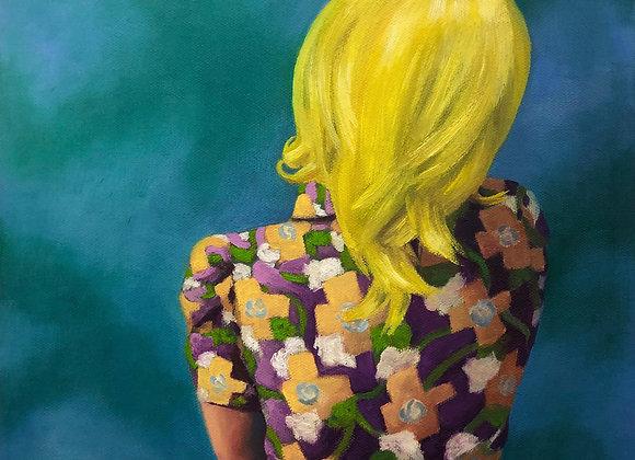 Artist: Lauren E. Peters, Title: self-portrait (embrace)