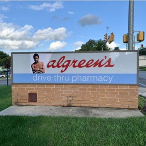 Artist: Cassius King, Title: Walgreens-->Algreen's