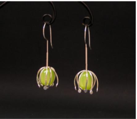 Artist: Joy Raskin, Title: Flowering - earrings