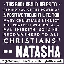 Tought Life daily devotional positive thinking Christian testimonial