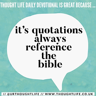 Thought Life Daily bible quotes
