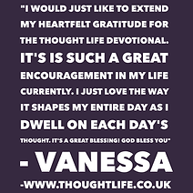 Thought Life Christian Devotional youth thoughts