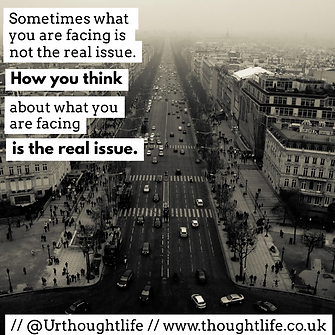 Tought Life daily devotional how you think is the real problem