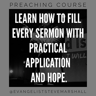 Preaching course - preach sermons with practical application and hope