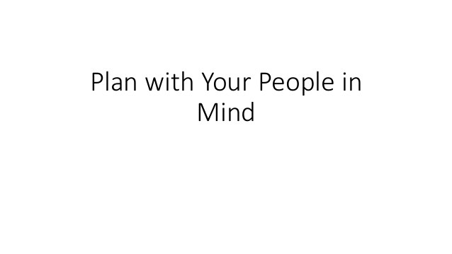Plan your church with your people in mind