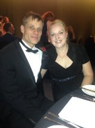 Nigel and Kelly at awards ceremony