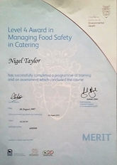 level 4 food safety certificate