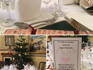 Our first Christmas function 71st Regt WO's and sgt mess