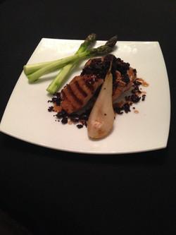 Pork fillet & blackpudding crumble