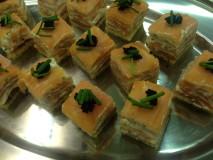 salmon gateau canape