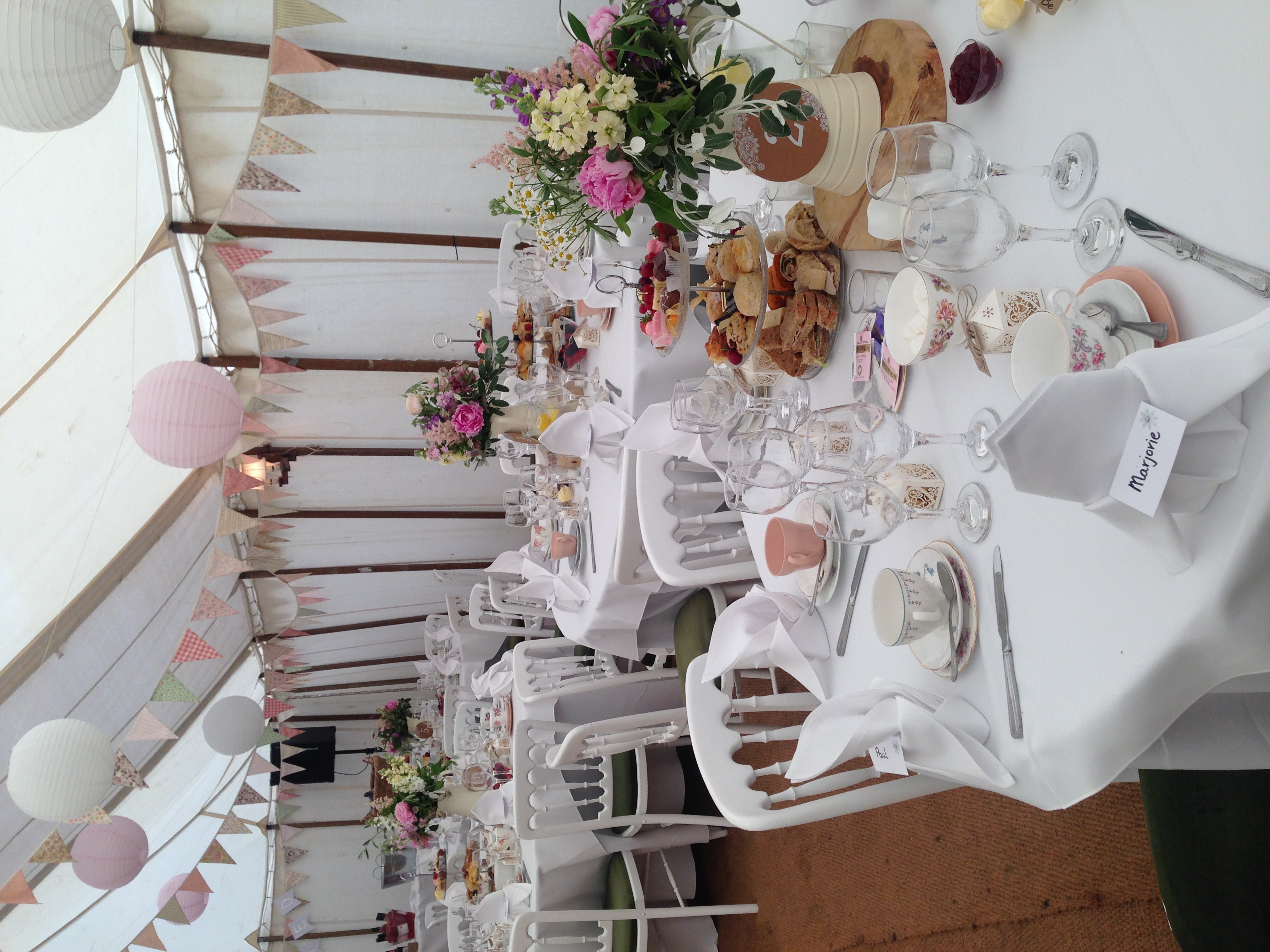 afternoon tea set up