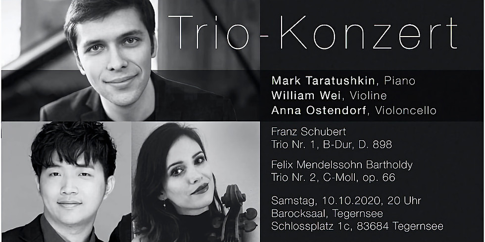 Trio Konzert im Barocksaal Tegernsee