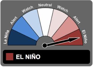 El Niño in decline but impacting global weather, ~50% chance of La Niña