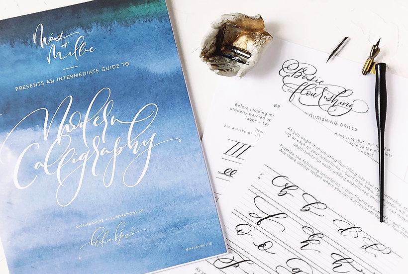 Intermediate Modern Calligraphy Digital Guidebook