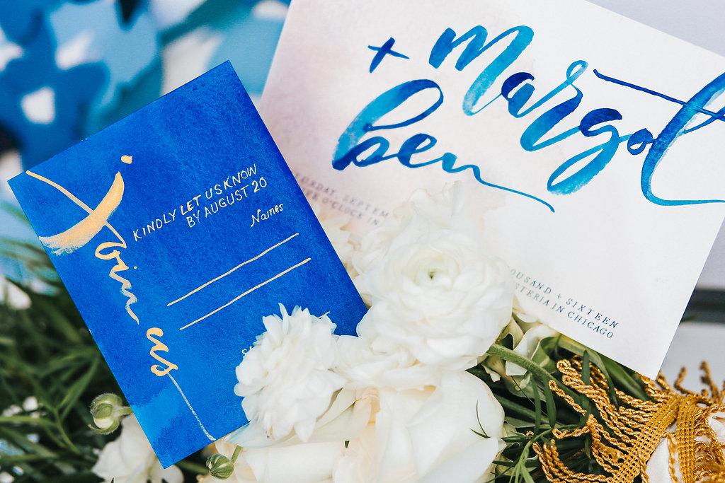 Butterfly Wedding Blue Invitations