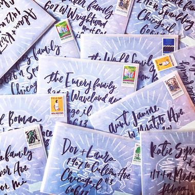 Baby Shower Envelope Lettering
