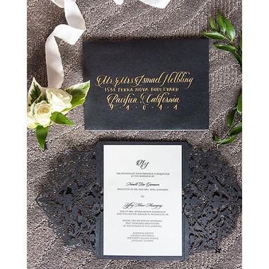 Jonathon + Stephanie's Invitation Calligraphy
